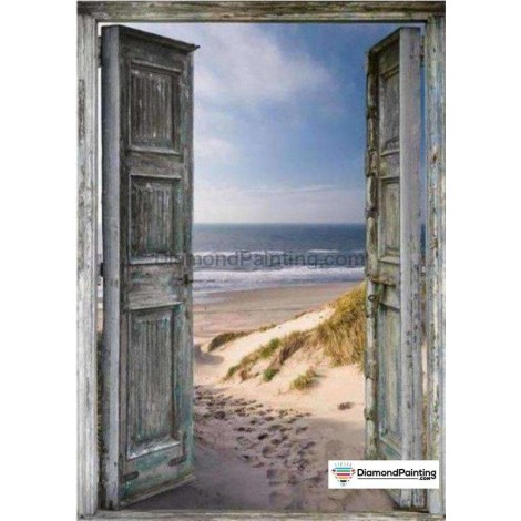 Ships From USA - Door to the Beach 40x60cm