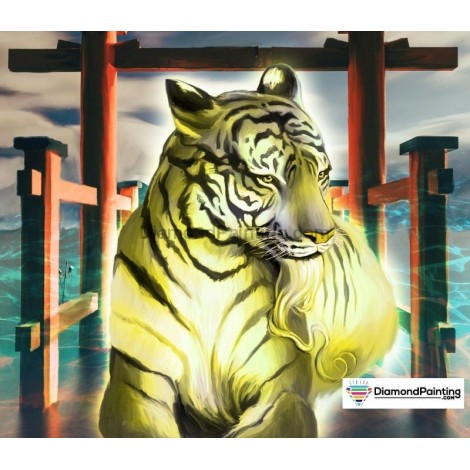Ships From USA -  Tiger of Light 40x50cm