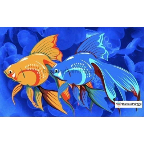 Abstract Fishes DIY Diamond Painting Kit