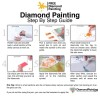 Halloween Diamond Painting Kit Witch over the Moon
