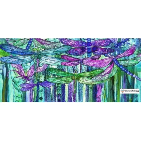 Abstract Dragonfly 5D Diamond Art Kit