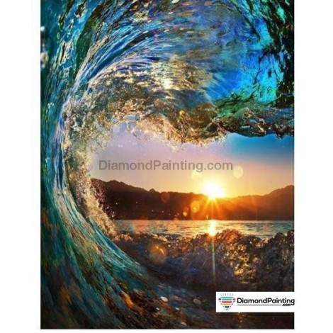 Ships From USA -  Ocean Wave 40x60cm