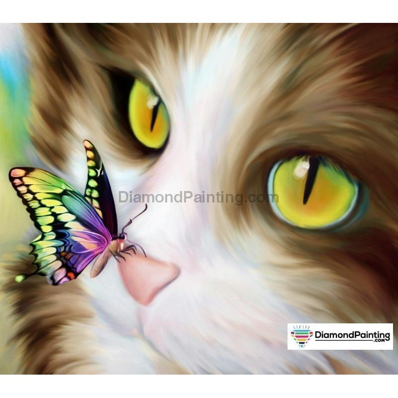 Cat and Butterfly Diamond...