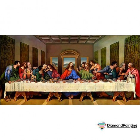 Ships From USA -  The Last Supper 60x30cm Diamond Painting Kit