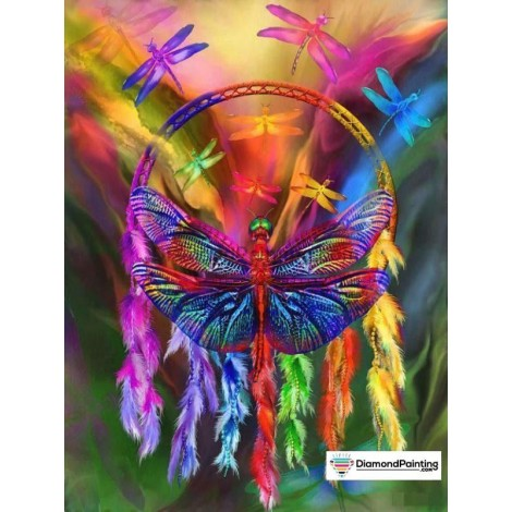 Dragonfly Feather 5D Diamond Art Kit
