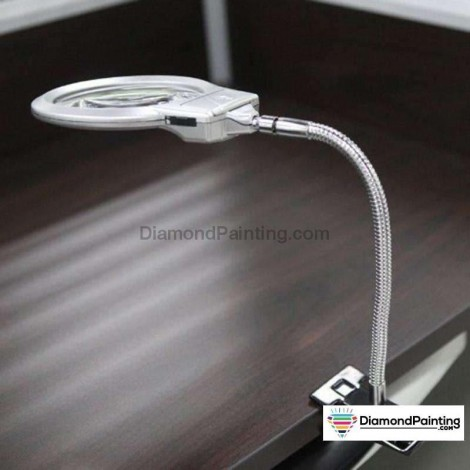 Ships From USA - LED Light with 4x/6x Magnifier for Diamond Painting