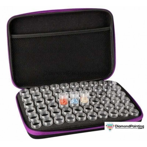 Ships From USA - 60 Pack Diamond Purple Storage Hand Bag Carry Case