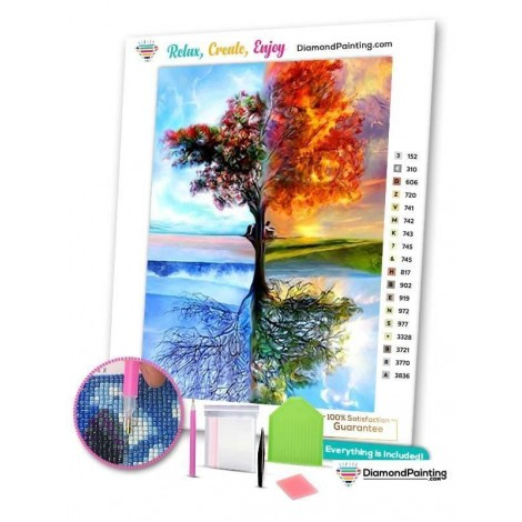 4 Seasons Tree of Life Diamond Painting Kit