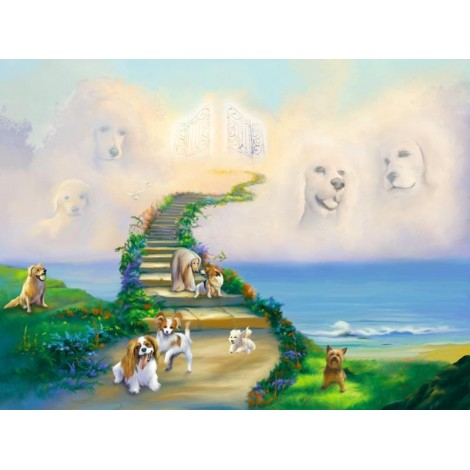 Dog Stairway to Heaven Diamond Painting Kit